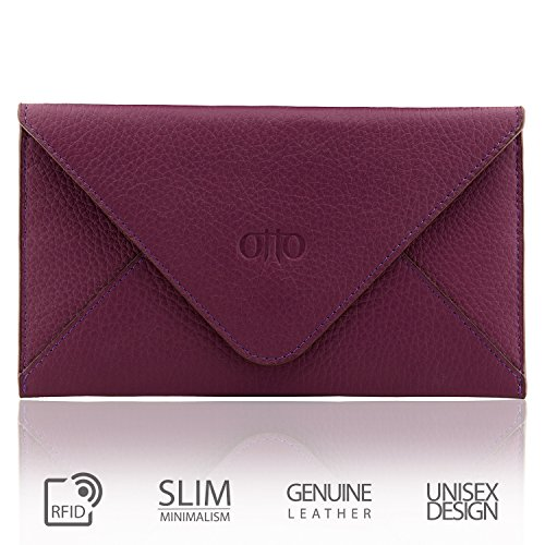 Otto Genuine Leather Wallet |Multiple Slots Money, ID, Cards, Smartphone, RFID Blocking| Unisex
