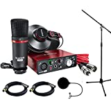 : Focusrite Scarlett Solo Studio Pack 2nd Gen & Recording Bundle w/ Pro Tools, Includes, Universal Pop Filter Microphone Wind Screen,10 Premier Series XLR Male-XLR Female 16AWG Cable&Microphone Stand