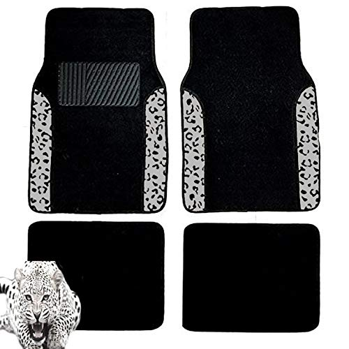 white and black car floor mats - 2