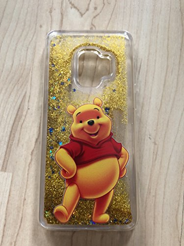 (Galaxy S9 Plus Case, Winnie The Pooh Sparkle Liquid Glitter Quicksand Case For Samsung Galaxy S9 Plus -- Ship From NY# 6)