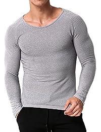 Men's T Shirts Long Sleeve Tee Crewneck Sweatshirt Cotton Lightweight Top