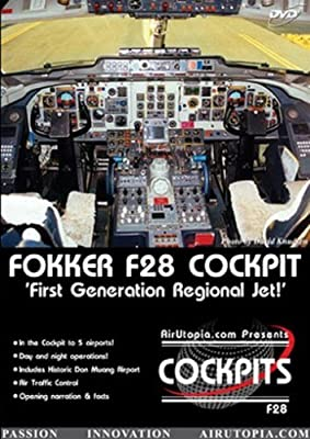 Air Utopia: Flying the Fokker F28 Cockpit - Asia!(Airport, airliner, plane, airplane, aircraft, cockpit FILM)