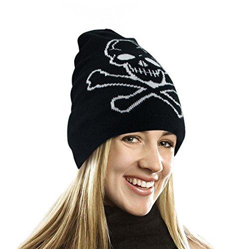 EZGO Skull Printed Winter Beanie Hat - Pirate Knit Cap Skull Cap Skullies Beanie (Skull Printed) ()