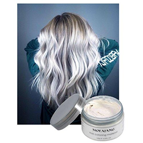 Vakker Mofajiang Hair Wax Color Styling Cream Mud, Natural Hairstyle Dye Pomade, Party Cosplay, -
