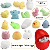 16pcs Squishy Toys Filled Surprise Eggs-Party Favors Prize Mochi Squishies Mini Squeeze Funny Toy-Soft Stress&Anxiety Relief Toys for Kids/Adults-Choicest Prime