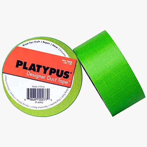 Platypus DESIGNER/SALIN21067 Sour Apple Linen Designer Duct Tape, 30' Length x 1-7/8