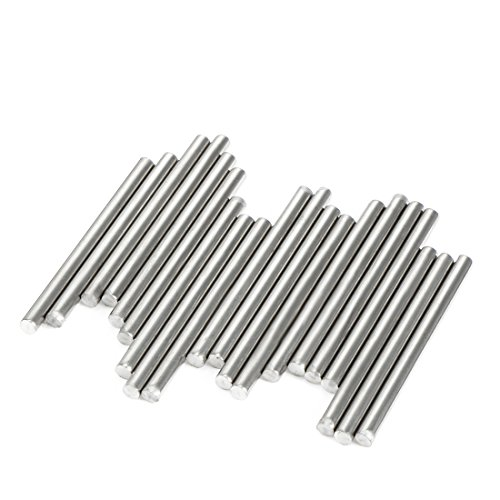 uxcell 20Pcs Stainless Steel Round Shaft Rods Axles 3mm x 40mm for RC Toy Car 3x40mm Rod