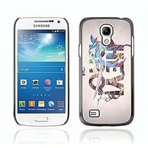A-type Arte & diseño plástico duro Fundas Cover Cubre Hard Case Cover para Samsung Galaxy S4 MINI / i9190 / i9192 ( Enfriar Hey Bro Arte Ilustración )
