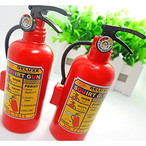 Giveme5 Pack of 5 Children's Plastic Squirt Water Game Fire Extinguisher Shaped Mini Squirt Water Toy - Mini Size for $<!--$6.33-->