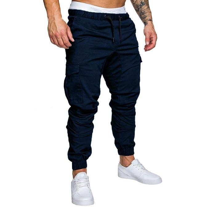 Elecenty Pantaloni Sportivi da Uomo Pantaloni Casual Elastico Pantaloni  Sport Pantaloni Larghi Tasche Larghi (Size 9233a6873df