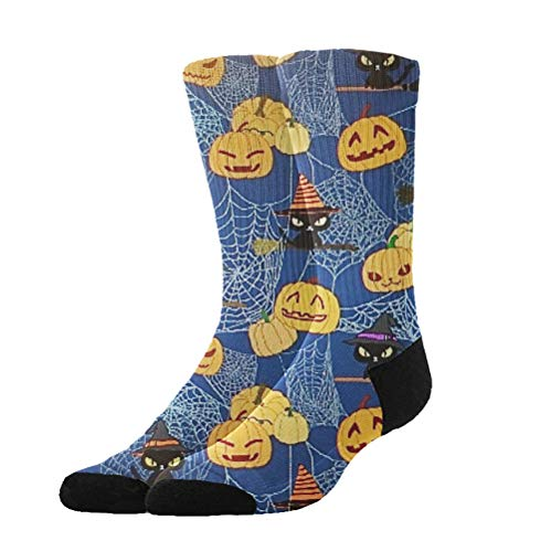 Jinkela Unisex Happy Halloween Party Patterns Graphic Novelty Funny Crazy 3D Print Casual Long Crew Tube Socks
