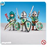 PLAYMOBIL 7973 - 3 chevaliers Dragons Verts