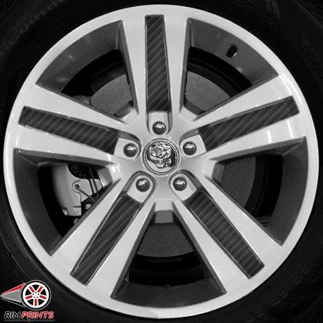 Black 20' Rims (RP1034-CFBLK - Fits 2007-11 DODGE NITRO 20'' Wheels- Black Carbon Fiber RimPrints (Vinyl Graphics))