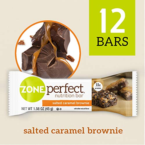 (	ZonePerfect Nutrition Snack Bars, Salted Caramel Brownie, 1.58 oz, (12 Count))
