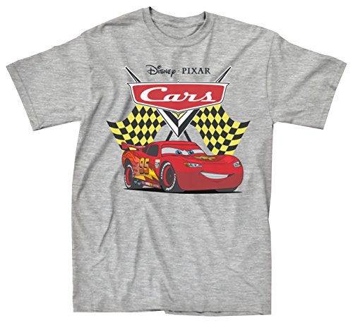 Cars Always a Winner Lightning McQueen T-shirt (XXL,Heather Grey) (Disney Cars Shirts For Adults)