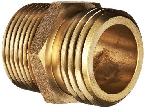 1 Fire Hose (Moon 358-1061021 Brass Fire Hose Adapter, Nipple, 1