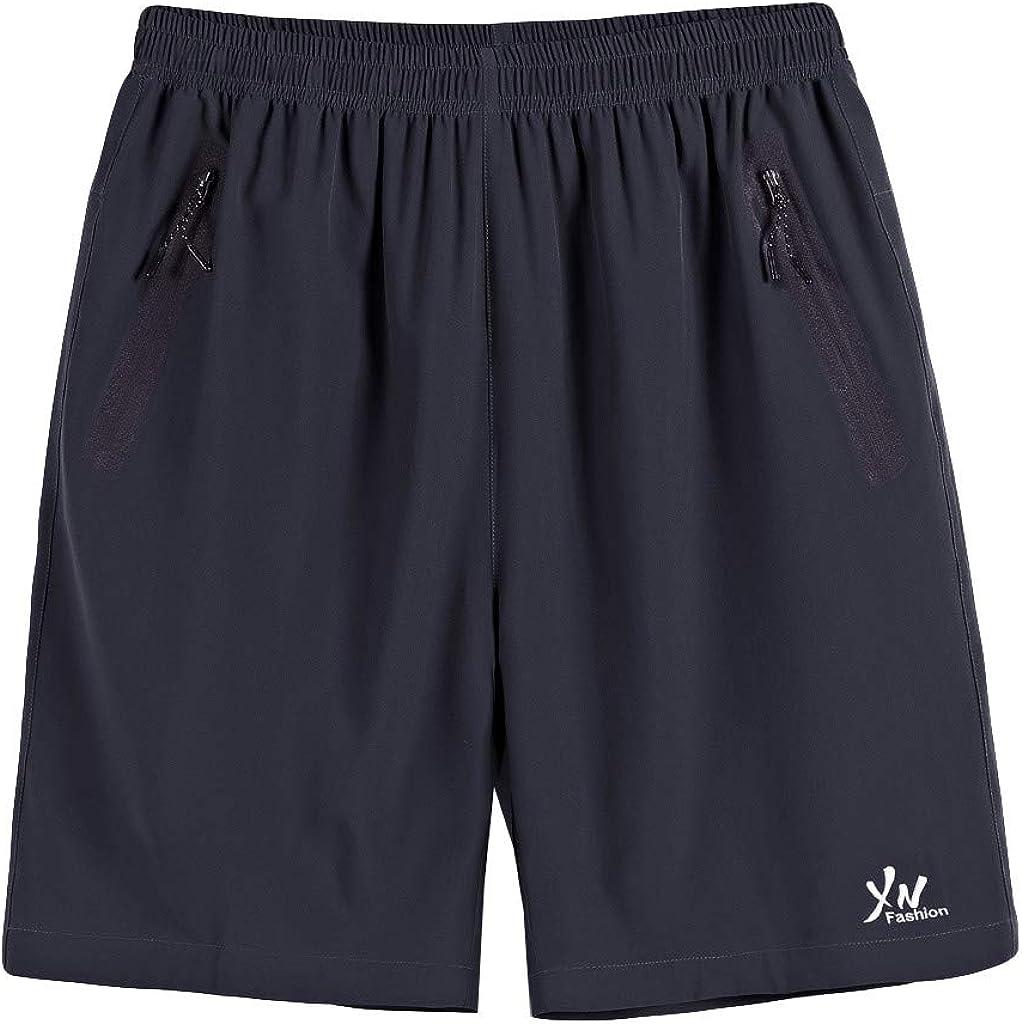 FRAUIT Bermuda Mare Uomo Taglie Forti Pantaloncini Palestra Uomini Tasche Zip Pantaloncino Corto Taglie Comode Plus Size Oversize Pantaloni Sportivi Running Jogging Pantofole