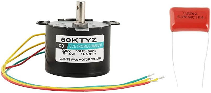 1PCS AC220V 5-50RPM Miniature Low Speed Large Torque of Force Synchronous Motor