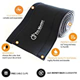 "PREMIUM 63"" Cable Management Sleeve, Fully Adjustable Velcro Cord Cover, Cable Organizer, Wire Hider Concealer Protector, Best Cord Organizer for PC, TV, Office, Home"