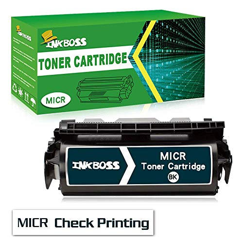 InkBoss High Yield MICR Toner Cartridge Compatible for Lexmark Optra T616, T616n Printers,for Check Printing-Black