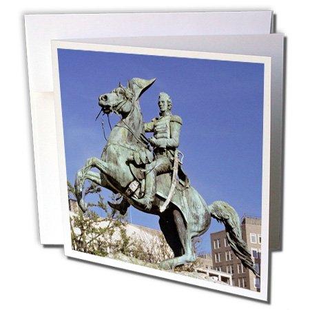 Price comparison product image 3dRose Washington DC Andrew Jackson Lafayette Square US09 RER0000 Ric Ergenbright Greeting Cards, Set of 12 (gc_88993_2)
