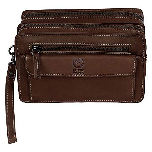Leather Hand Pouch Men