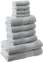 Highams Dreamscene Luxury 100% Egyptian Cotton 10 Piece Bathroom