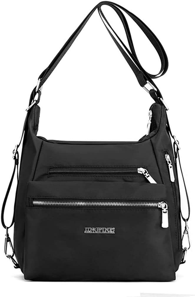 Purse Handbag for Women Nylon Casual Tote Shoulder Crossbody Hobo Bag Rucksack Convertible Backpack