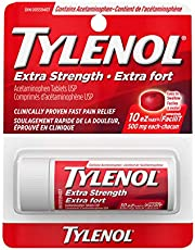 Tylenol Extra Strength Ez Tablets Vial 10 count