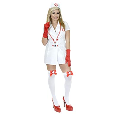 Amazon.com: Mujer Sexy disfraz de enfermera (tamaño: pequeño ...