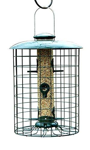 BestNest Woodlink Caged Seed Tube Bird Feeder