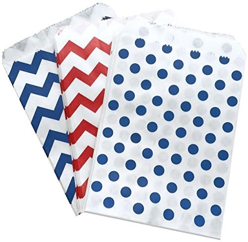 white and blue popcorn bags - 6