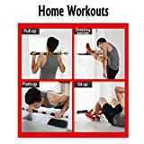 ONETWOFIT Pull Up Bar Doorway Chin Up Bar Household Horizontal Bar Home Gym Exercise Fitness (25.6 to 33.5 Inches Adjustable Length) OT033