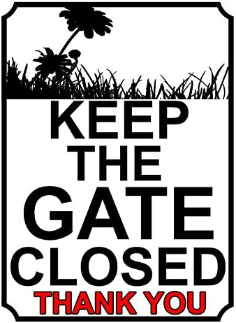 ゲートを閉じたままにする メタルポスタレトロなポスタ安全標識壁パネル ティンサイン注意看板壁掛けプレート警告サイン絵図ショップ食料品ショッピングモールパーキングバークラブカフェレストラントイレ公共の場ギフト