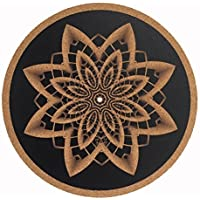 Turntable Slipmat / cork slipmat - Specially designed Cork. psychedelic geometric taz mandella