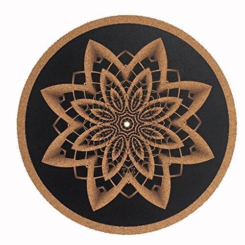 Turntable Slipmat / cork slipmat - Specially designed Cork. psychedelic geometric taz mandella Taz Studio TAZSTUDIO