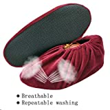 FOCCTS 5 Pairs Washable Shoe Covers, Non Slip Boots