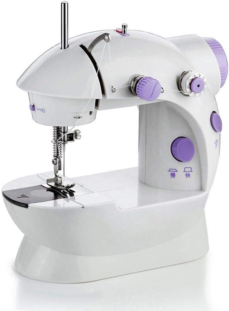 Keptei Máquina de Coser eléctrica Miniatura multifunción con luz Tela: Amazon.es: Hogar