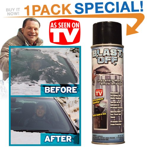 Blast Off Spray De-icer As Seen On TV, Melt Snow and Ice Fast, Jumbo Can (Car Frozen Doors Open)