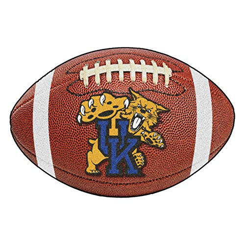 (FANMATS NCAA University of Kentucky Wildcats Nylon Face Football Rug)