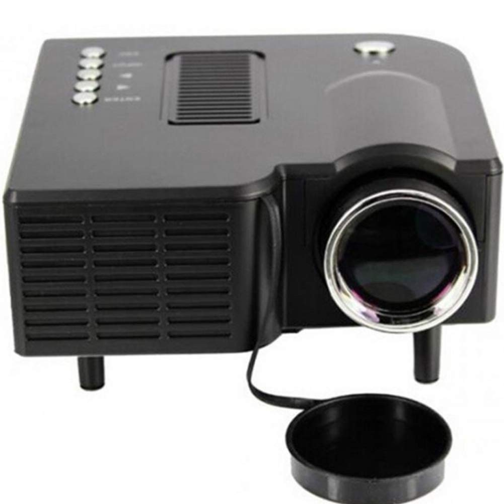 Mini Micro Portable Phone Projector Home HD Home Theater TV Projector-Black by HBOY