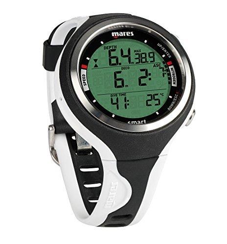 Mares Smart Wrist Dive Computer, 黒/白い