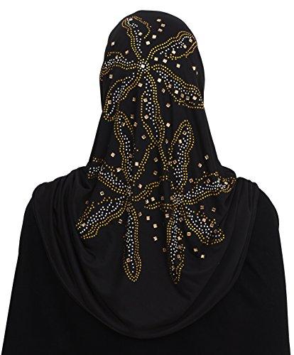 Al Amira 1 piece Aiyah Hijab Ultra Silky Lycra in Eid Design (Black4)