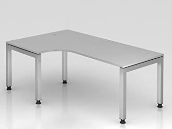 Angle table u de pied rectangulaire cm ° gris