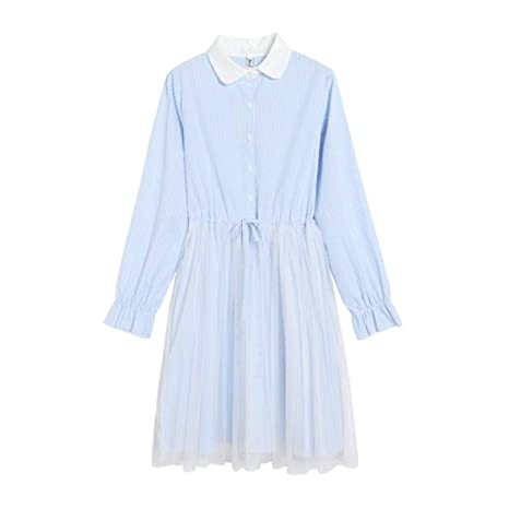 Vestido de Mujer Dulce Estilo Princesa Falda de Encaje de Costura ...
