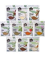 Club House, Quality Natural Herbs & Spices, Organic Pantry Essentials Pack, 10 Count (garlic powder, onion powder, chili powder, cinnamon, turmeric, oregano, paprika) - Amazon Exclusive