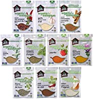 Club House, Quality Natural Herbs & Spices, Organic Pantry Essentials Pack, 10 Count (garlic powder, onion