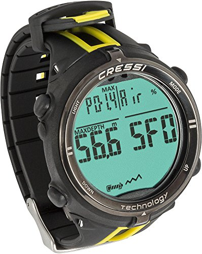 Cressi Dekompressionstauchcomputer Newton Titanium Watch, Schwarz/Gelb, KS800150