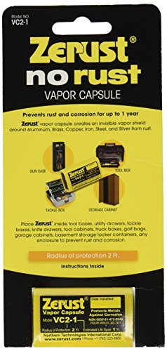 - Zerust VC2-1/VC2-1/2-1 Rust Preventing Vapor Capsule, Yellow