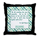 FiuFgyt Dr. April Kepner Cushion Cover Case 18 x 18 Canvas Pillow Cover Chair Decor